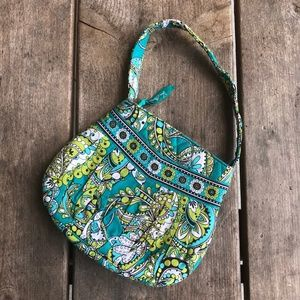 Womens Vera Bradley Hannah Small Purse Bag Peacock